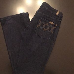 Sz 26 Bootcut 7 for all Mankind Jeans.